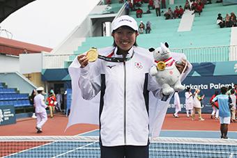 高橋乃綾選手、アジア大会女子シングルス優勝!