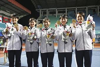 高橋乃綾選手、個人、団体の2冠達成!