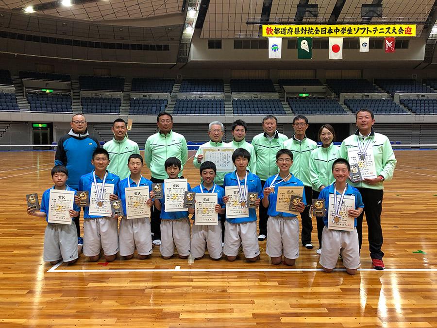 都道府県対抗全日本中学生大会 男子団体準優勝