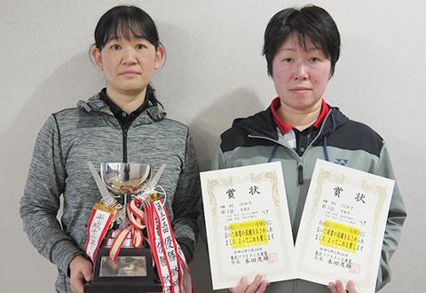第54回東北インドアソフトテニス選手権大会の結果 35女子優勝
