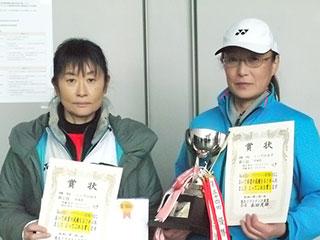 第55回東北インドアソフトテニス選手権大会の結果 シニア女子55優勝